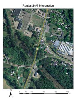 Routes 2A and 7 Intersection Project