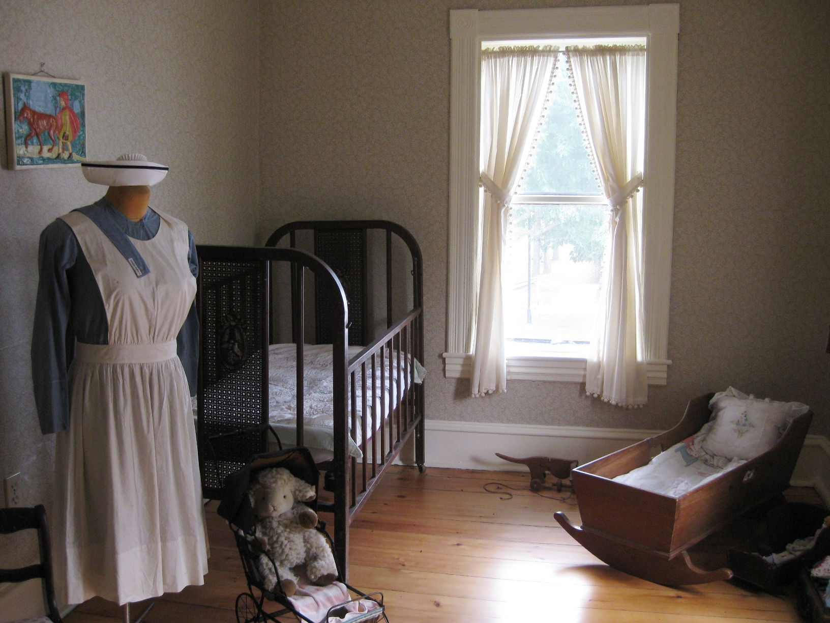 Bedroom on historical society home