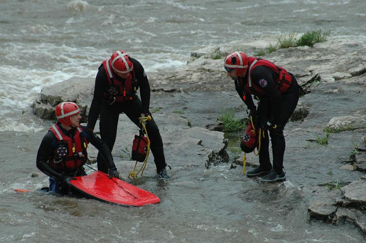 Three Technical Rescue Team Members